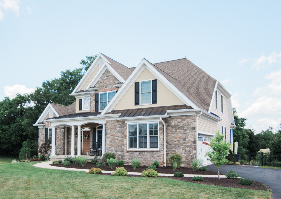 large house with stone facade - Olive Garden Hanover Pa